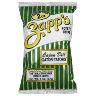 Zapps Cajun Dill Gatortator Zapps, 2-Ounce Bags (Pack Of 25)