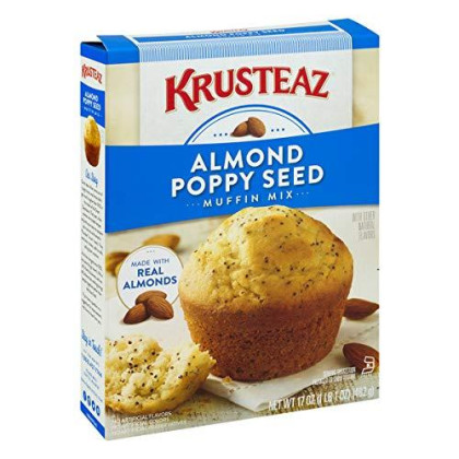 Krusteaz Almond Poppy Seed Supreme Muffin Mix, 17-Ounce Boxes (Pack of 12)