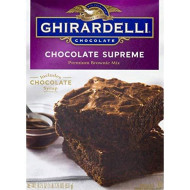 Ghirardelli Chocolate Supreme Brownie Mix, 18.75-Ounce Boxes (Pack Of 12)