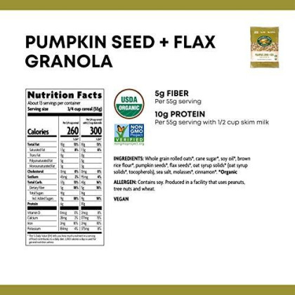 Nature's Path Flax Plus Pumpkin Granola, Healthy, Organic, 26.4-Ounce Eco Pac (Pack of 6)
