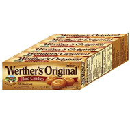 Werther'S Original Caramel Hard Candies, 1.8 Ounce Rolls (Pack Of 12), Hard Candy, Bulk Candy, Individually Wrapped Candy Caramels, Caramel Candy Sweets, Hard Candy Bulk