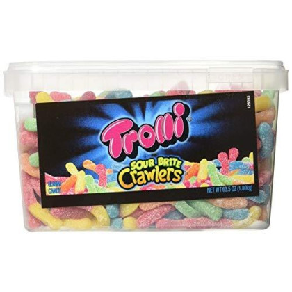 Trolli Sour Brite Crawlers, 3.96-Pound Tub