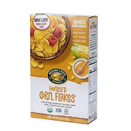 Nature's Path Honey'd Corn Flakes Cereal, Healthy, Organic, Gluten-Free, 10.6 Ounce Box (Pack of 6)