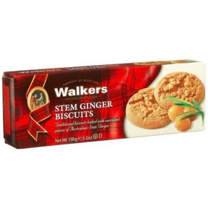 Walkers Shortbread Stem Ginger Biscuits, 5.3-Ounce Boxes (Count Of 6)