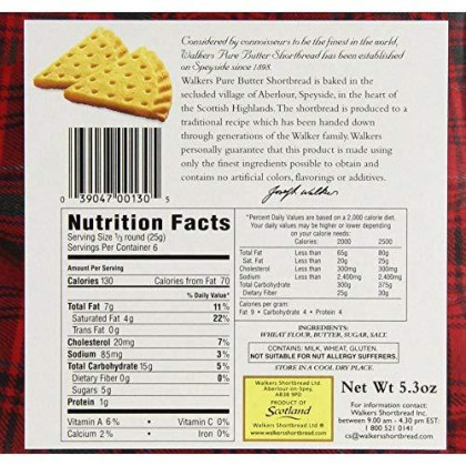 Walkers Shortbread Pure Butter Petticoat Tails, 5.3 Ounce Box (Pack Of 6) Traditional &Amp; Simple Pure Butter Shortbread Cookies From The Scottish Highlands, No Artificial Flavors