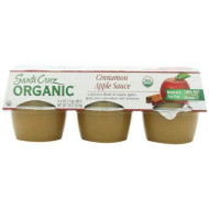 Santa Cruz Organic Cinnamon Apple Sauce, 4-Ounce Cups, 6 Count (Pack Of 4)