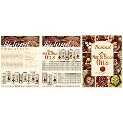Roland Roasted Walnut Oil, 16.9-Ounce Canisters (Pack of 3)