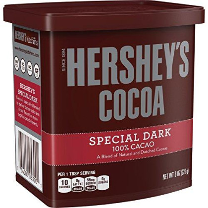 HERSHEY'S Baking Cocoa, SPECIAL DARK Hot Cocoa, 8 Ounce (Pack of 6)