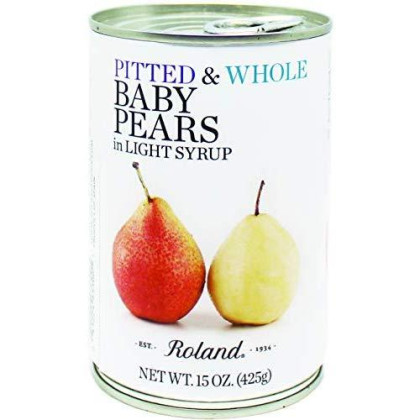 Roland Foods Baby Pears, Whole in Light Syrup, 15 Ounce (Pack of 6)