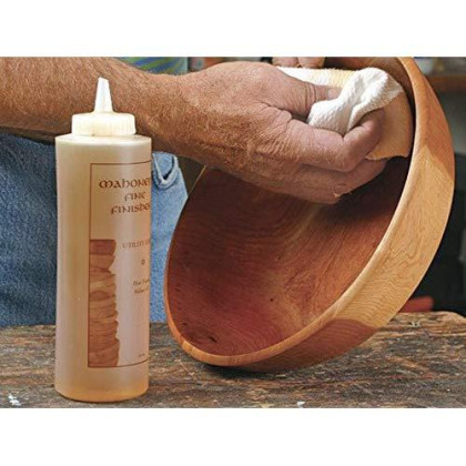 Ultimate Walnut Oil by Mahoney's Finishes: Food Safe Wood Finish for Satin Sheen/ Easy To Use, FastDrying Wood Protective Finish/ Salad Bowl, Cutting Board, Utility and Furniture Walnut Wood Protectant