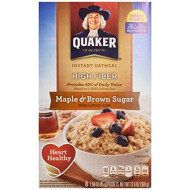 Quaker Instant Oatmeal, Maple And Brown Sugar, 12.6 Oz