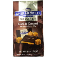 Ghirardelli Chocolate Squares, Dark And Caramel Filled, 5.32 Oz., 6 Count