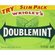 Wrigley - Doublemint, Slim, 15 Stick Pack, 10 Count