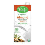 Pacific Foods, Organic Unsweetened Almond-Vanilla (Pack Of 12)