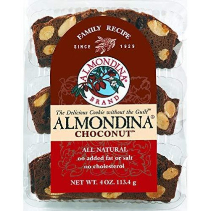 Almondina Biscuits, Choconut, 4 Ounce, 12 Pack