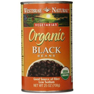 Westbrae Natural Organic Black Beans, 25 Ounce (Pack of 12)