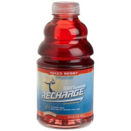 R.W. Knudsen Recharge Sports Drink, Mixed Berry, 32-Ounce Bottles (Pack of 12)