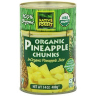 Native Forest Pineapple Organic Chunks, 14-Ounce (Pack Of 6)