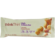 Think Thin Thin Bar, Chnky Pnut Btr, 2.10-Ounce (Pack Of 10) (Value Bulk Multi-Pack)