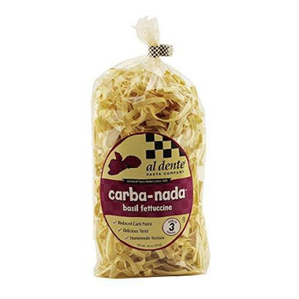 Al Dente Carba-Nada Low Carb Basil Fettuccine Pasta 10 Ounce Bag