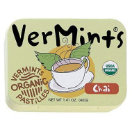 Vermints Organic Chai Pastilles, 1.41Oz Tins (Pack Of 6)