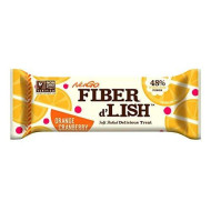 NuGO Fiber d'Lish Bar, Orange Cranberry, Pack of 16
