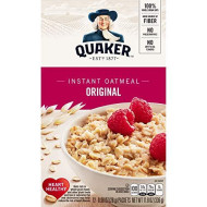 Quaker Instant Oatmeal Original, 12 Packets per Box (Pack of 4)