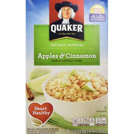Quaker Instant Oatmeal, Apples & Cinnamon, Breakfast Cereal, 15.1 Ounce, (Pack of 4)