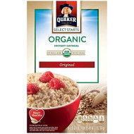 Quaker Instant Oatmeal Organic Regular, .98 oz, 8-Count Boxes (Pack of 4)