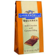 Ghirardelli Chocolate Squares, Milk Chocolate With Caramel Filling, 5.32-Ounce Packages (Pack Of 3)