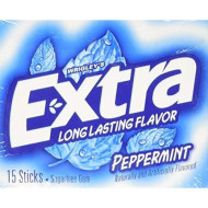 Wrigley'S Extra Gum Peppermint (Pack Of 10), Assorted