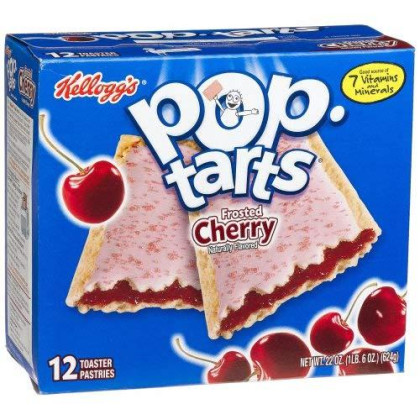 Pop-Tarts Breakfast Toaster Pastries, Frosted Cherry Flavored, Bulk Size, 144 Count (Pack Of 12, 22 Oz Boxes)