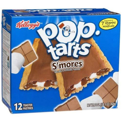 Pop-Tarts Breakfast Toaster Pastries, Frosted S'Mores Flavored, 22 Oz (12 Count)(Pack Of 12)