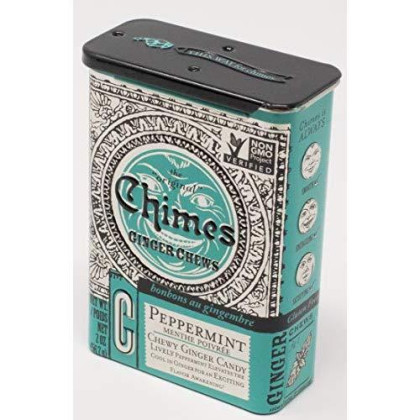 Chimes All Natural Peppermint Ginger Chews - 2 oz Tin