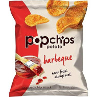 Popchips Potato Chips, BBQ Potato Chips, 24 Count (0.8 oz Bags), Gluten Free Potato Chips, Low Fat, No Artificial Flavoring, Kosher