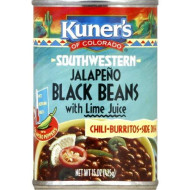 Kuner'S Black Beans Jalapeno, 15-Ounces Can (Pack Of 12)
