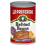 La Preferida Refried Beans, Spicy Chipotle, 16-Ounce (Pack Of 12)