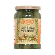 Sechler'S Candied Sweet Orange Strip Pickles, 16 Ounce (Pack Of 6)