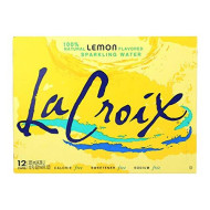 La Croix Lemon Sparkling Water 12 Fl Oz Cans - Pack Of 12