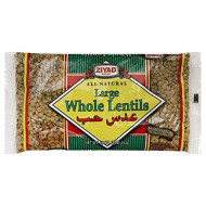 Ziyad All Natural Whole Lentil Dry Beans, 16 Ounce - 6 Per Case.