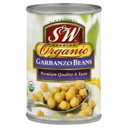 S&W Garbanzo Beans, Organic, 15-Ounce (Pack of 12)