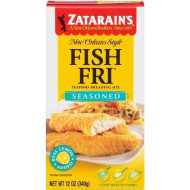 Zatarain's Coating Mix Fish Fry Seasoned, 12-ounces (Pack of 12)