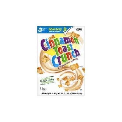 General Mills Cinnamon Toast Crunch Cereal 45.75 Total Ounce Two Bag Value Box