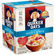 Quaker Oats, Quick 1-Minute Oatmeal, Breakfast Cereal, 55 Servings, Two 40Oz Bags In Box