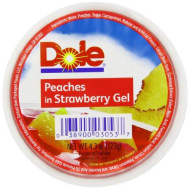 Dole Fruit Bowls, Peaches In Strawberry Gel, 4.3 Ounce (36 Cups)