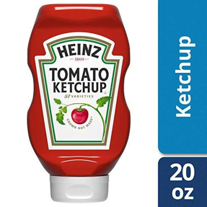 Heinz Tomato Ketchup, 20 oz Bottle, Pack of 6