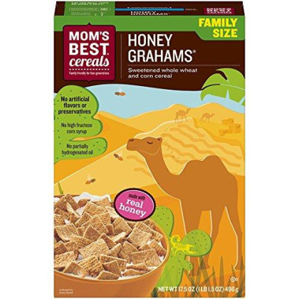 Mom'S Best Natural Honey Graham Cereal, 17.5-Ounce Boxes (Pack Of 14)