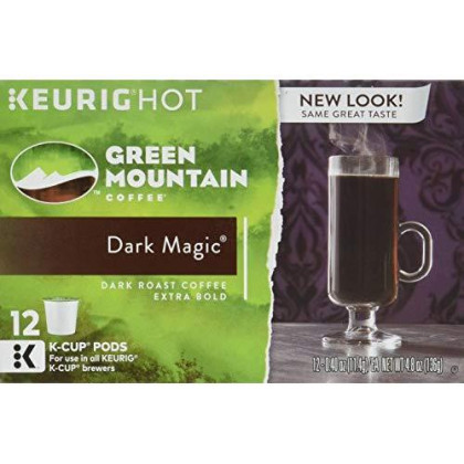 Green Mountain K-Cups Dark Magic, 0.40 Ounce, one box of 12 K-cups
