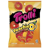 Trolli Peachie-O'S Gummy Candy, 4.25 Ounce Bag, Pack Of 12