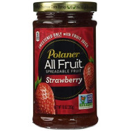 Polaner 100% All Natural Strawberry Fruit Spread 10 oz (Pack of 12)